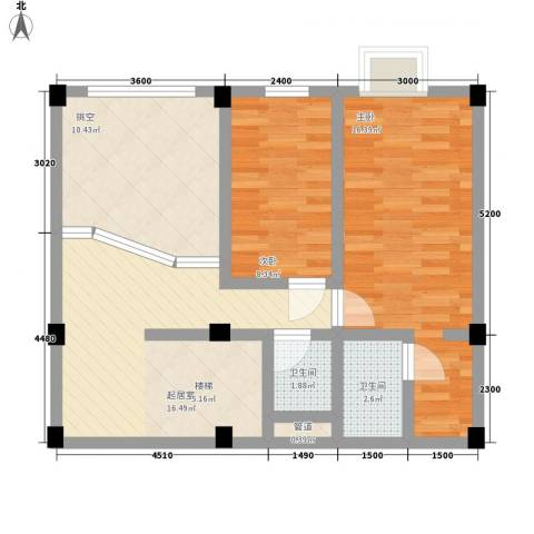 叠美居2室0厅2卫0厨124.00㎡户型图