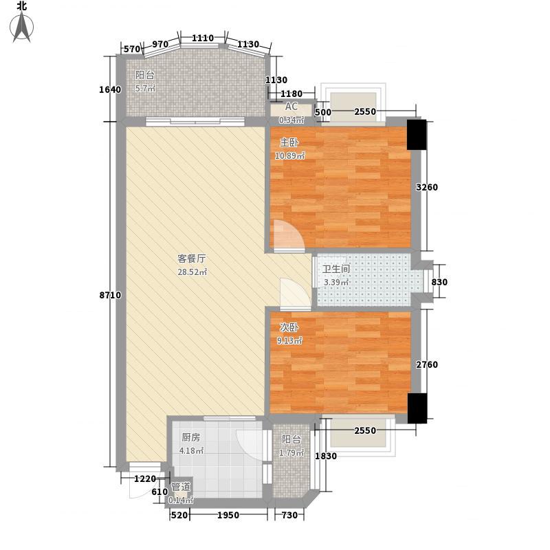 丽雅苑91.00㎡丽雅苑户型图康裕苑7座d2室2厅1卫户型2室2厅1卫