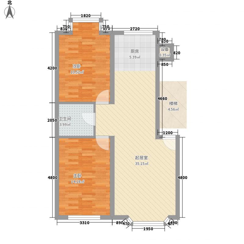 西河花苑8.00㎡I户型2室2厅1卫1厨