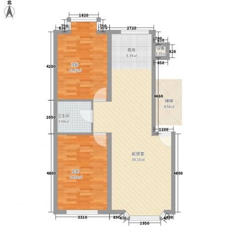 西河花苑2室0厅1卫0厨67.20㎡户型图