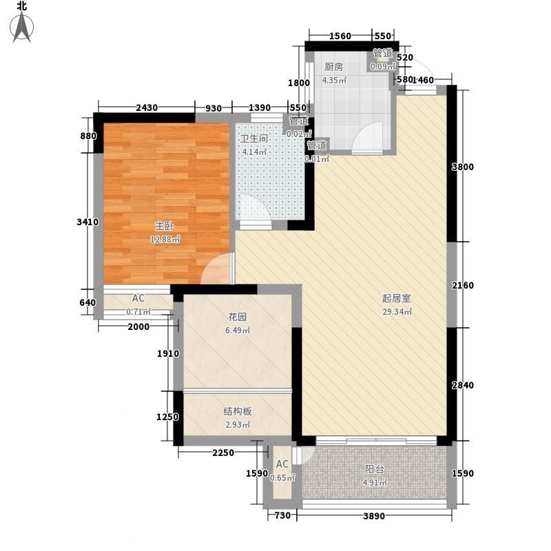 苏杭名苑一居室28户型1室1厅1卫1厨