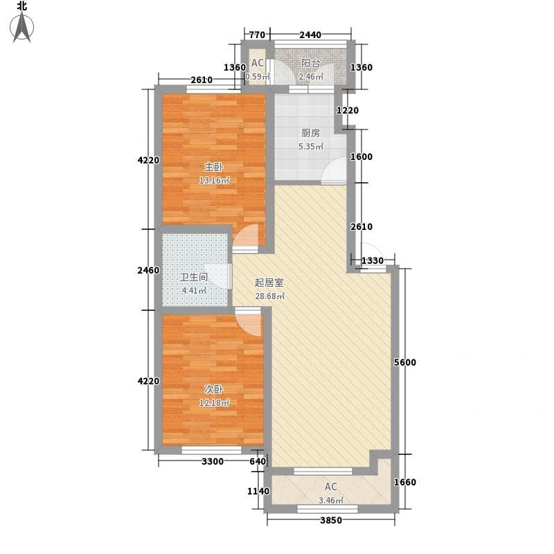 风度泊林22.00㎡风度泊林1室户型1室