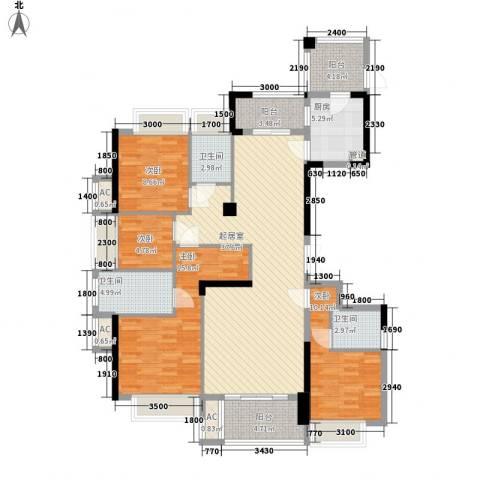 融耀江滨御景4室0厅3卫1厨144.00㎡户型图