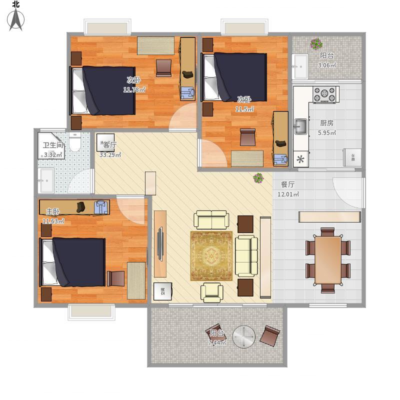 白石联合豪庭110平米