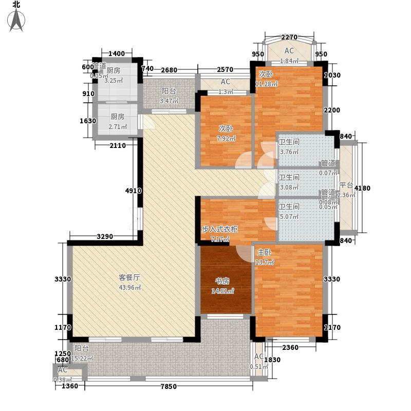 四季花都195.51㎡四季花都D4-2'户型4室2厅3卫1厨195.51㎡户型4室2厅3卫1厨