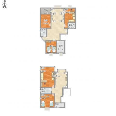 石铁家园5室2厅3卫2厨266.00㎡户型图