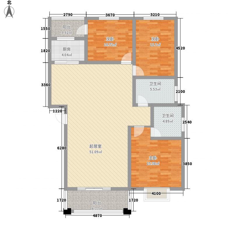 豫章新城135.00㎡花园洋房A户型3室2厅2卫1厨