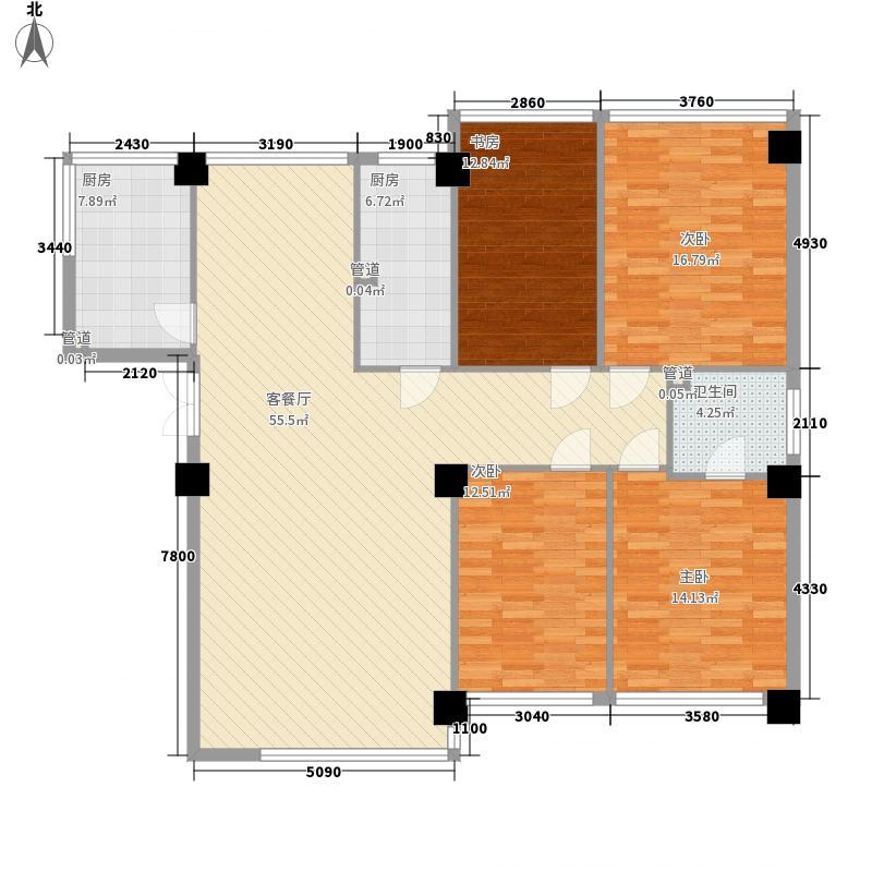 恒隆公馆172.25㎡A2户型4室2厅2卫