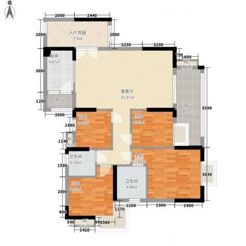 汇侨新城4室1厅2卫1厨99.49㎡户型图