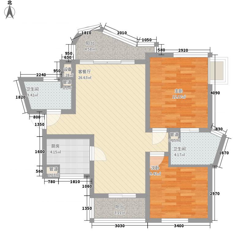 万宝威尼斯蓝湾89.03㎡万宝威尼斯蓝湾户型图A3户型2室2厅2卫户型2室2厅2卫