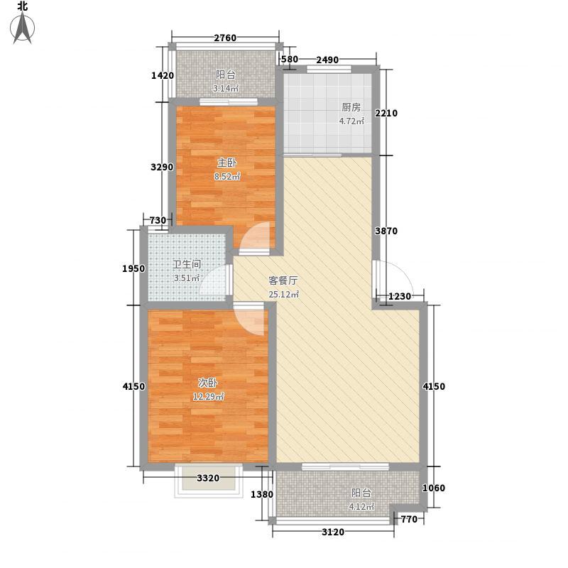 益格名邸87.00㎡益格名邸2室户型2室