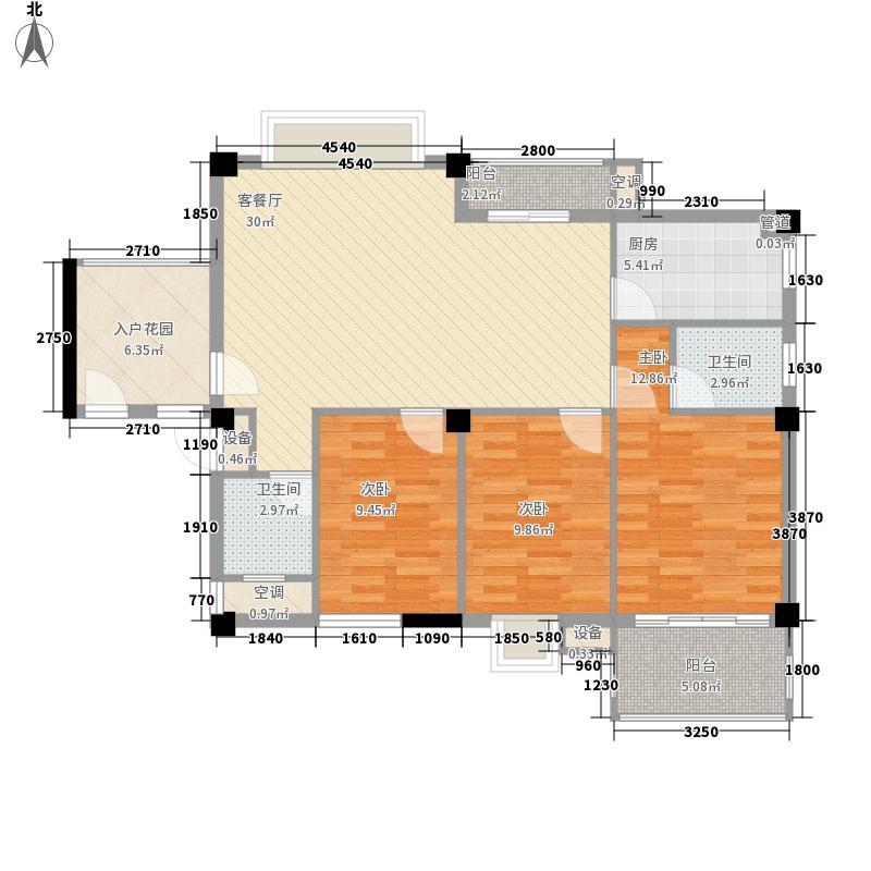 绿洲富城�苑126.70㎡16#18#01、04单元户型3室2厅2卫1厨