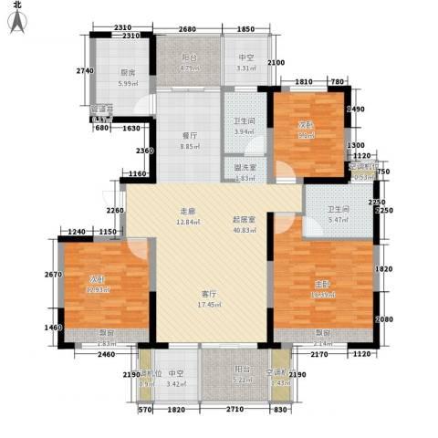 浙建枫华紫园3室0厅2卫1厨130.00㎡户型图