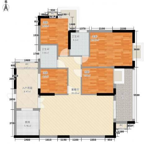 汇侨新城4室1厅2卫1厨127.00㎡户型图