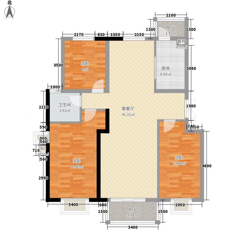 华雁香溪美地127.00㎡二期小高层70、72、75、77#楼C1户型3室2厅1卫1厨