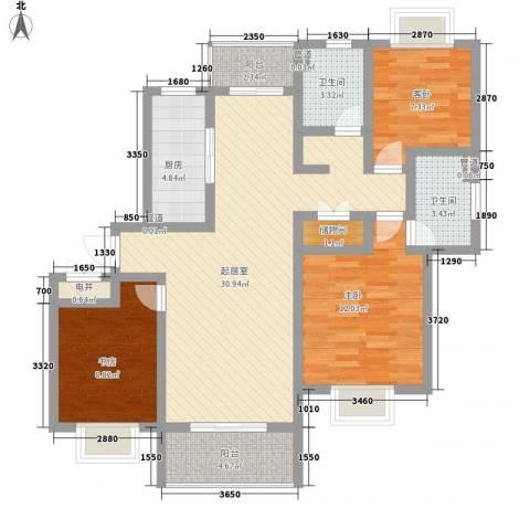 万宇荣盛阳光苑3室0厅2卫1厨119.00㎡户型图