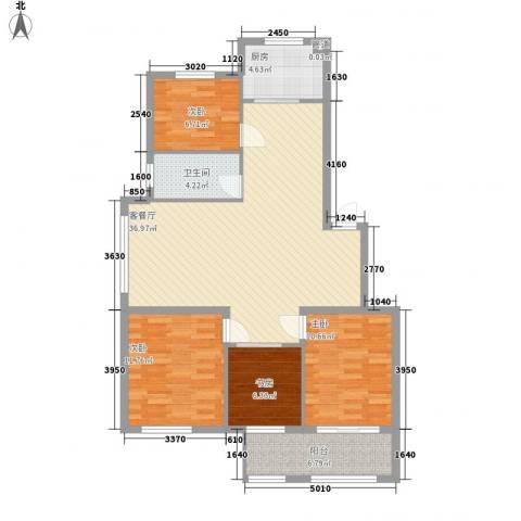 新世家4室1厅1卫1厨124.00㎡户型图