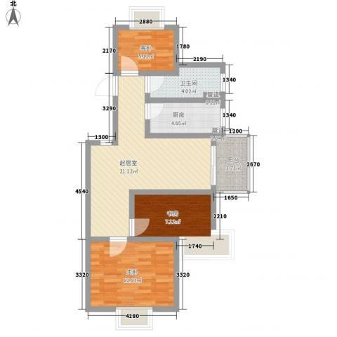 万宇荣盛阳光苑3室0厅1卫1厨86.00㎡户型图