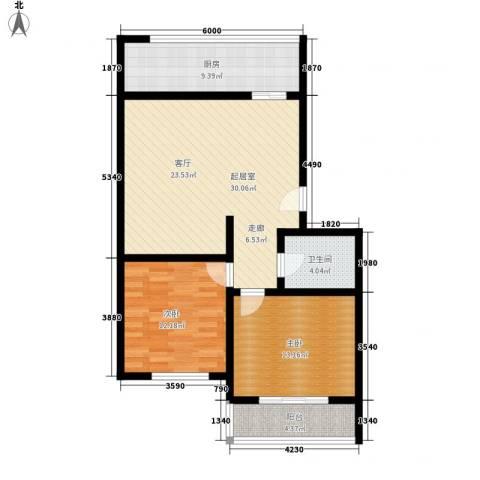 枣苑小区2室0厅1卫1厨84.00㎡户型图
