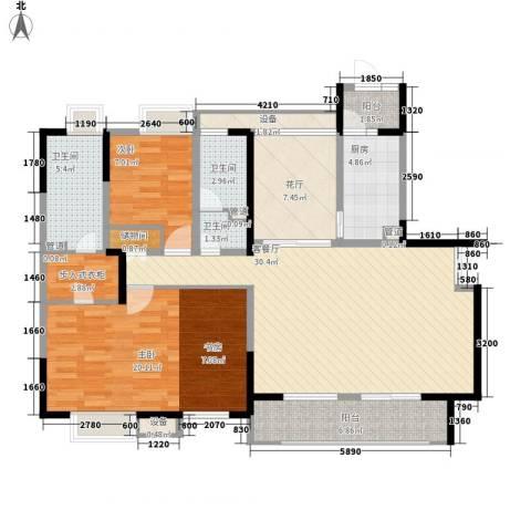 华润置地中央公园别墅2室1厅3卫1厨108.00㎡户型图
