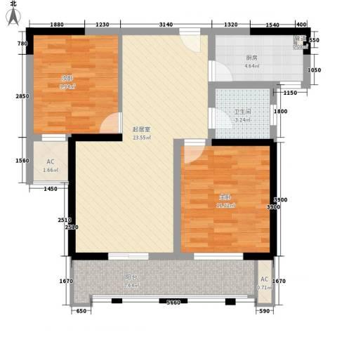 胜利新村2室0厅1卫1厨91.00㎡户型图