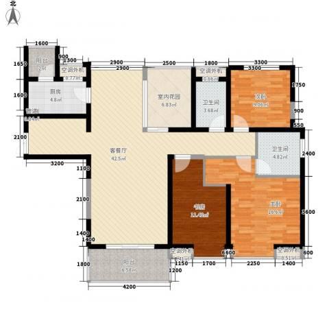 中海东郡3室1厅2卫1厨160.00㎡户型图