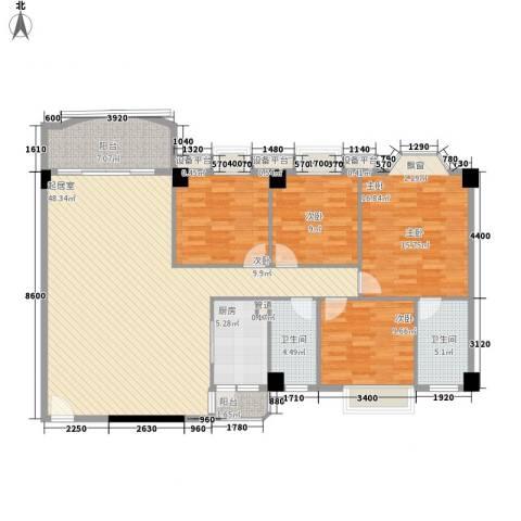 丽雅苑4室0厅2卫1厨165.00㎡户型图