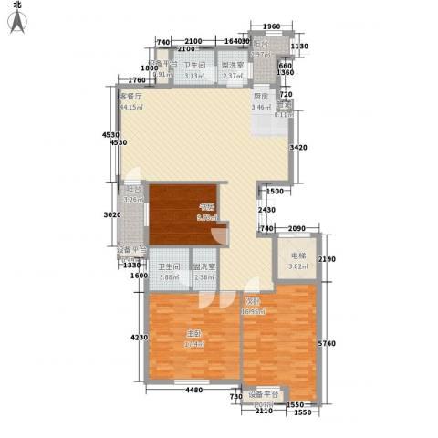 宏都筑景3室1厅2卫0厨147.00㎡户型图