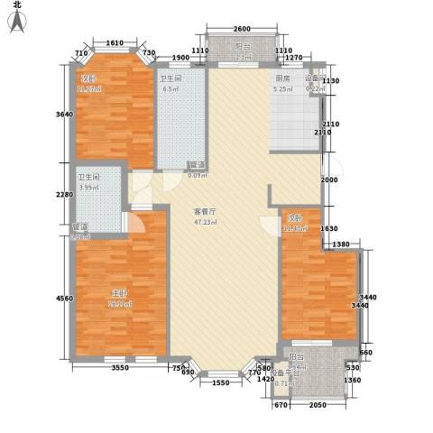 宏都筑景3室1厅2卫0厨123.00㎡户型图