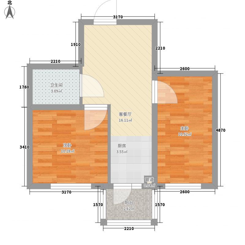 汉城国际40.00㎡汉城国际户型图户型2室1厅1卫1厨户型2室1厅1卫1厨