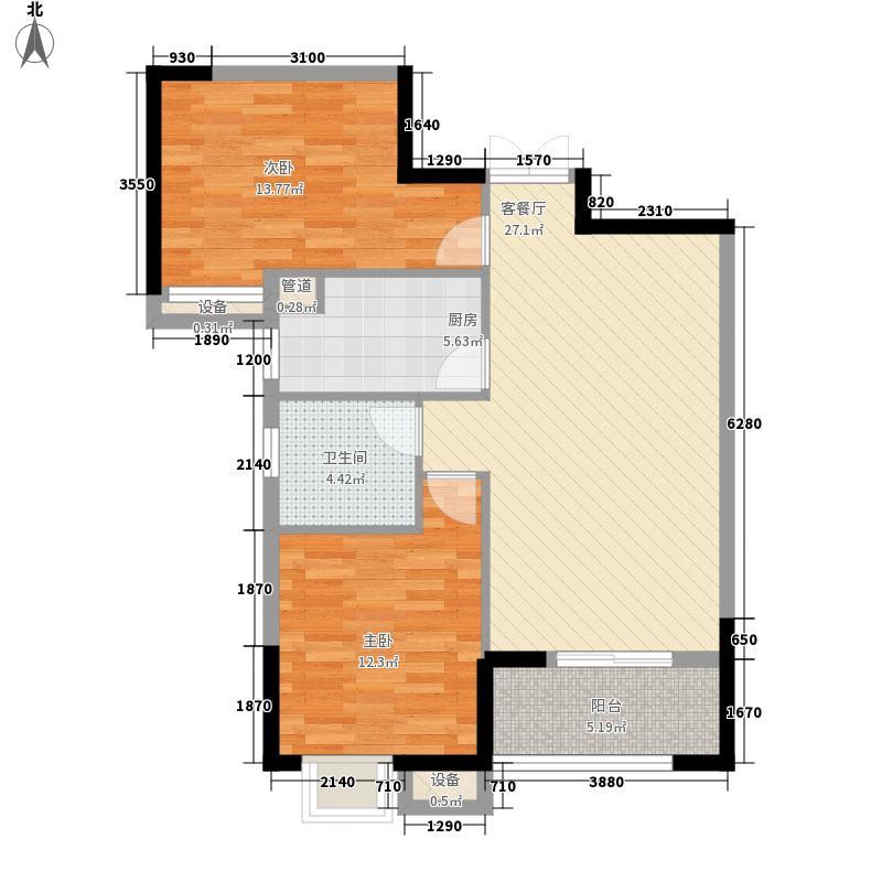 南湖时尚城K3A、K4A号楼A2户型