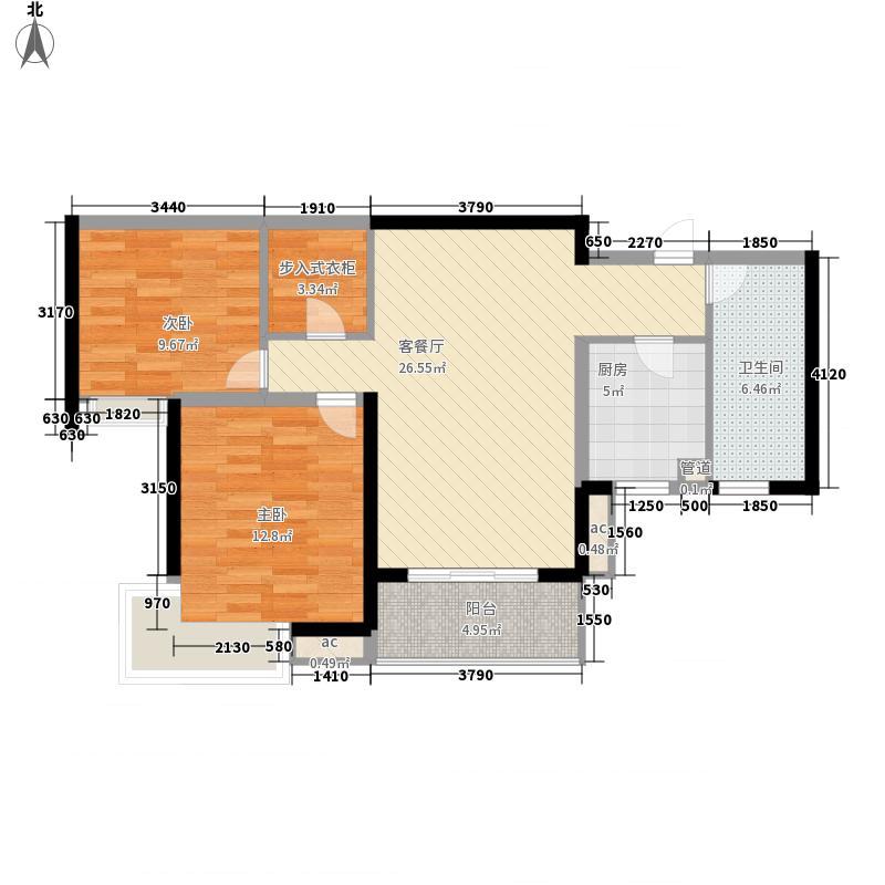 纯翠香山100.00㎡纯翠香山户型图B2室2厅1卫户型2室2厅1卫