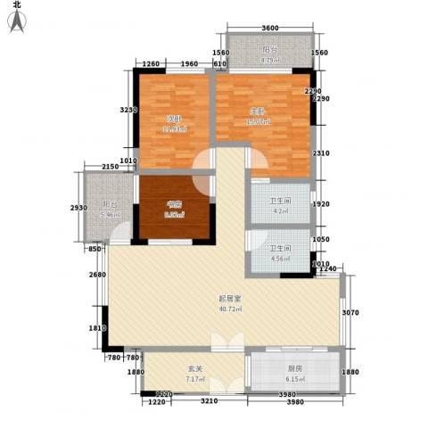 商城世纪村3室0厅2卫1厨124.00㎡户型图