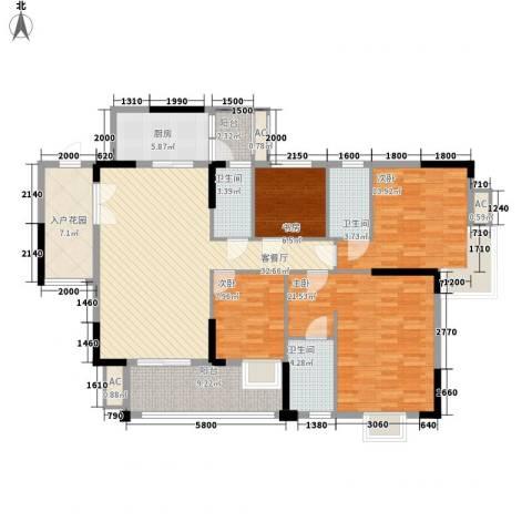 汇侨新城4室1厅3卫1厨142.00㎡户型图