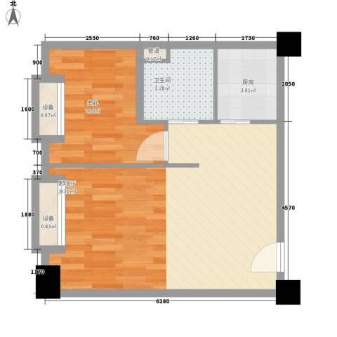 海吉星星世界1室1厅1卫1厨97.00㎡户型图