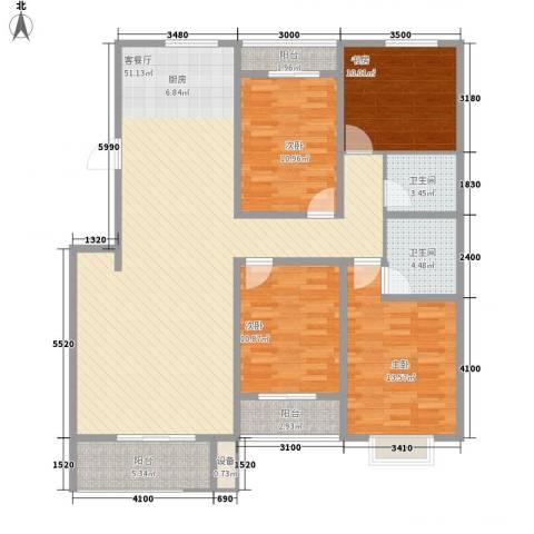 金山文汇4室1厅2卫0厨162.00㎡户型图