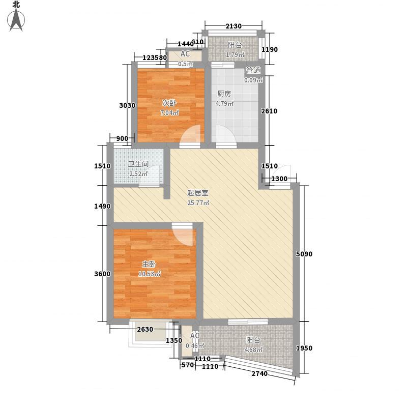 嘉应茗阳水岸嘉应茗阳水岸户型图D户型(86.73-87.15平米)2室2厅1卫1厨户型2室2厅1卫1厨
