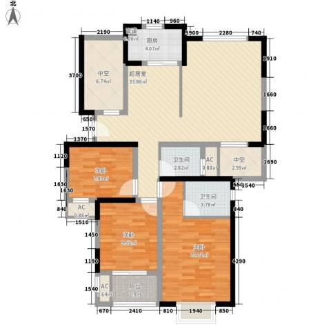 万星嘉和时代3室0厅2卫1厨112.00㎡户型图