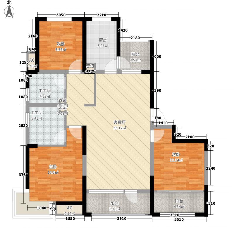 报业文苑142.60㎡142A户型3室2厅2卫1厨