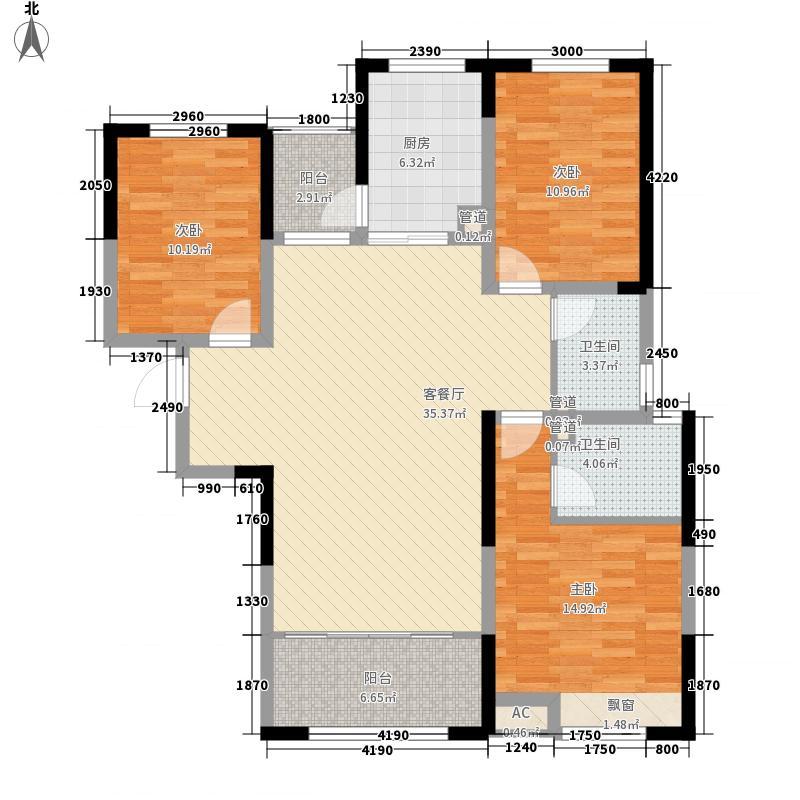 报业文苑136.53㎡136A户型3室2厅2卫1厨