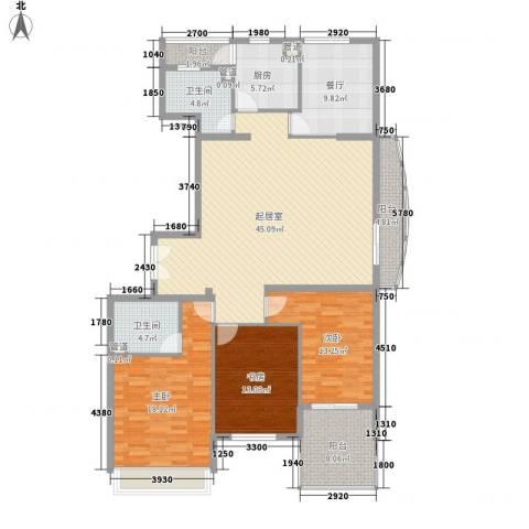 北斗家园3室1厅2卫1厨145.31㎡户型图