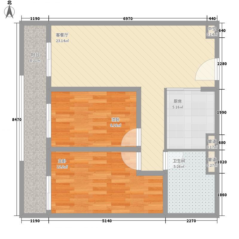 海吉星星世界90.00㎡一期公寓标准层D、E户型