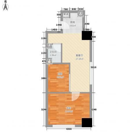东海精工社2室1厅1卫0厨62.00㎡户型图