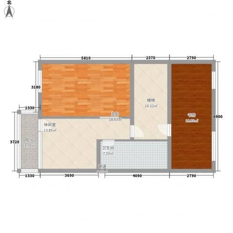 颐和园2室0厅1卫0厨101.00㎡户型图
