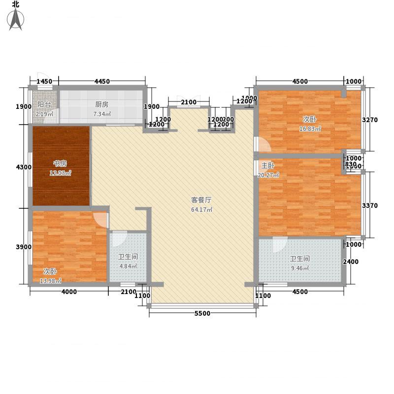 五星国际城22.10㎡户型4室2厅2卫1厨