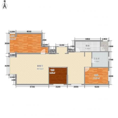 五星国际城3室1厅1卫1厨163.00㎡户型图