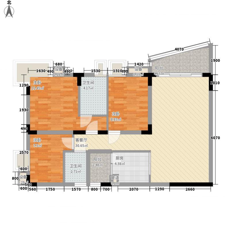 瑞华园 3室 户型图