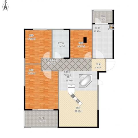 碧桂园欧洲城3室1厅1卫1厨278.00㎡户型图
