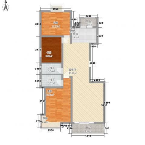 长乐湾3室1厅2卫0厨135.00㎡户型图