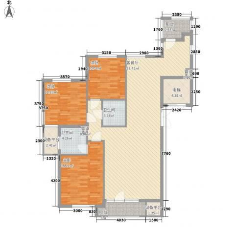 宏都筑景3室1厅2卫0厨145.00㎡户型图